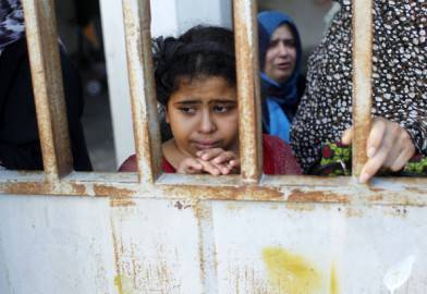 Bambina palestinese a Rafah ( SAID KHATIB/AFP/Getty Images)