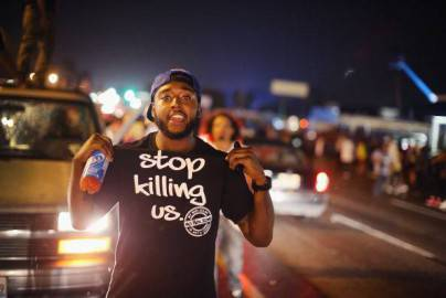 Manifestazione a Ferguson, St. Louis (Scott Olson/Getty Images)