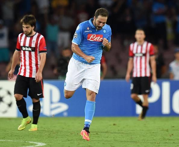 Il Napoli è solo Higuain e Mertens: 1-1 contro il Bilbao