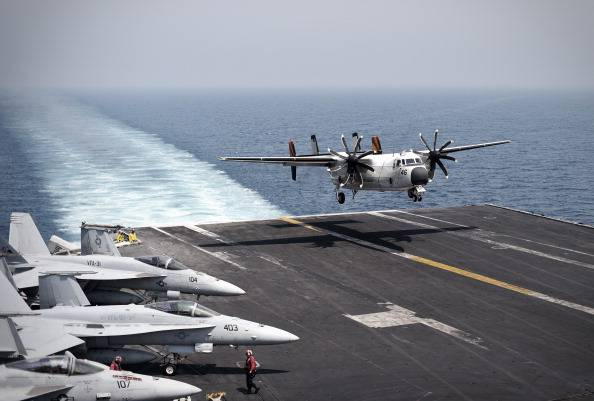 Nave USS George H.W. Bush, nel golfo (Getty images)