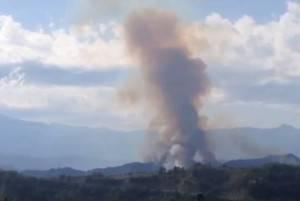 Luogo dello schianto dei due jet militari ad Ascoli Piceno (screen shot  youtube)