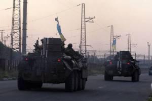 Blindati dell'esercito ucraino (Getty images)