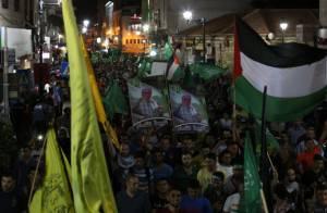 Festeggiamenti a Ramallah (Getty images)