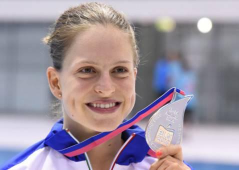 Il sorriso di Noemi Batki (TOBIAS SCHWARZ/AFP/Getty Images)