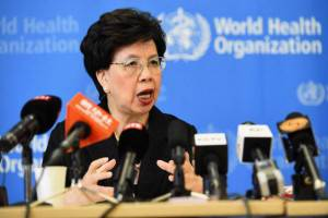 Il direttore generale dell'OMS Margaret Chan (ALAIN GROSCLAUDE/AFP/Getty Images)