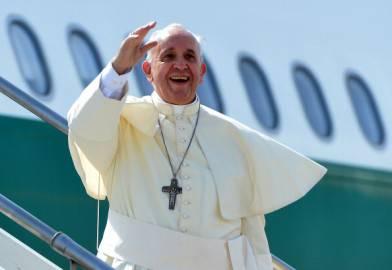 Papa Francesco in partenza per la Corea del Sud (Getty images)