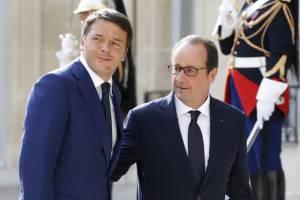 Matteo Renzi e François Hollande (Getty imges)