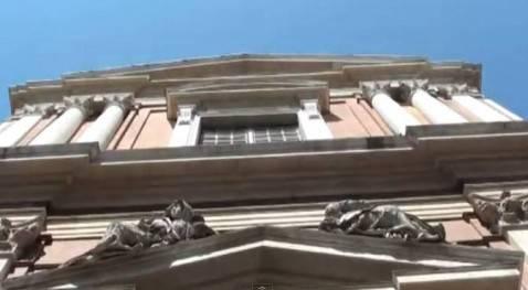 Facciata Chiesa San Vincenzo, Modena (screen shot video youtube)