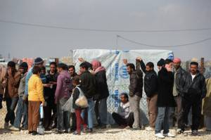 Campo profughi siriani in Giordania (Getty images)