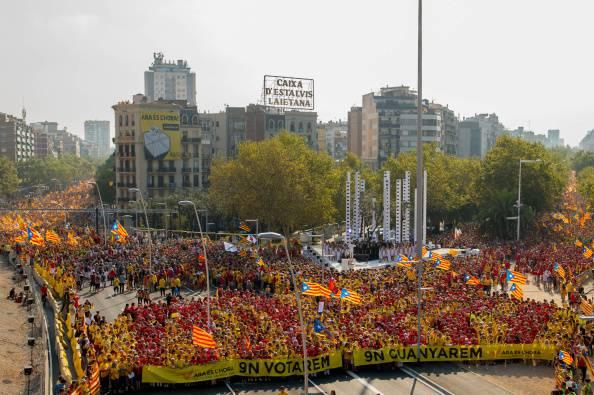 Corteo per indipendenza Catalogna (David Ramos/Getty Images)