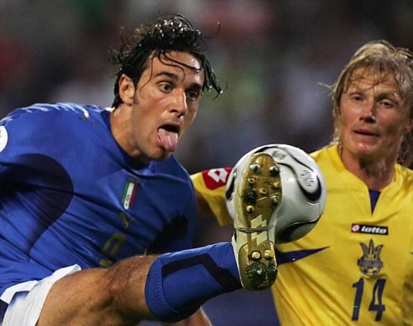 Andrey Gusin, qua con Luca Toni ai Mondiali 2006 (getty images)