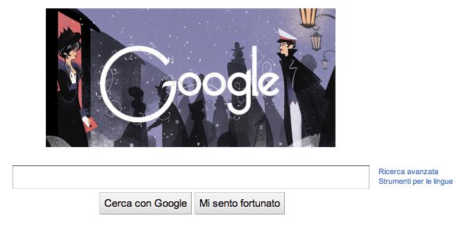 Doodle di Google per Lev Tolstoj (Screenshot Google.com)