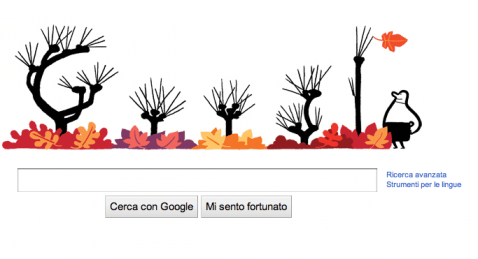 "Doodle ""autunnale"" (Screenshot Google)"