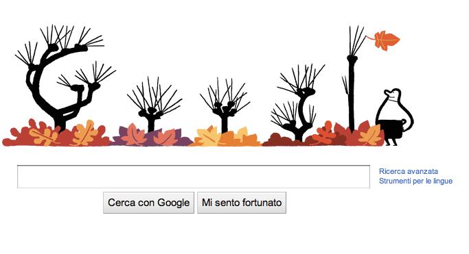 """I """"doodle"""" scandiscono anche le stagioni: su Google si ricorda l'arrivo dell'autunno"""