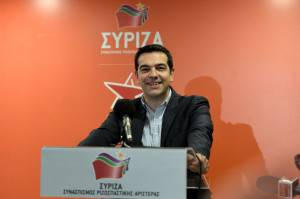 Alexis Tsipras, leader di Syriza (LOUISA GOULIAMAKI/AFP/Getty Images)