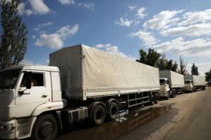 Convoglio russo diretto a Lugansk Ucraina dell'est  (Getty images)