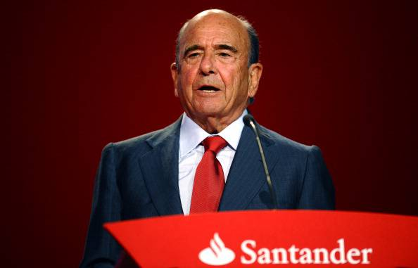 Emilio Botin, presidente del Banco Santander (Juan Manuel Serrano Arce/Getty Images)