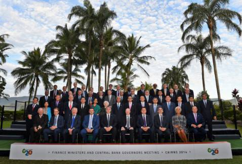 G20, foto di gruppo (WILLIAM WEST/AFP/Getty Images)