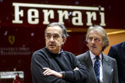 Marchionne e Montezemolo (FABRICE COFFRINI/AFP/Getty Images)