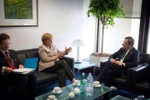Angela Merkel e Mario Draghi (foto  Guido Bergmann/Bundesregierung - Pool/Getty Images)