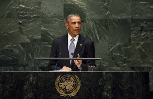 Obama all'Assemblea generale dell'Onu (JEWEL SAMAD/AFP/Getty Images)