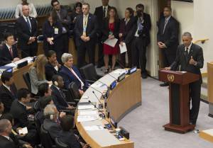 Presidente Usa, Barack Obama all'Assemblea Onu su tema virus ebola (Getty images)