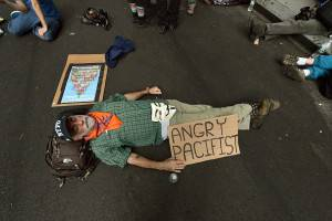 Protesta ambientalisti a New York (Getty images)
