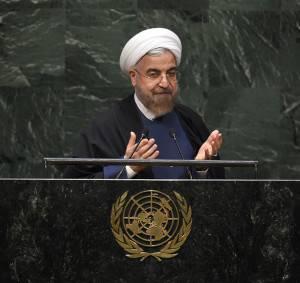 Presidente iraniano Hassan Rohani all'Assemblea Onu (Getty images)