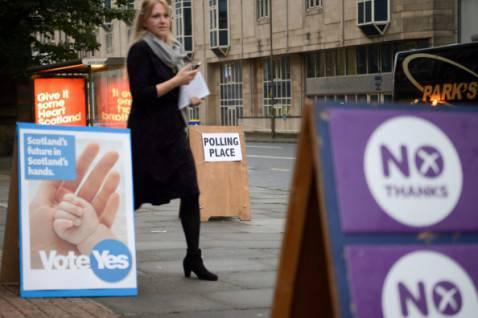 Seggi per voto su referendum indipendenza in Scozia (Getty images)