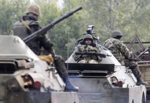 Militari ucraini a Donetsk (Getty images)