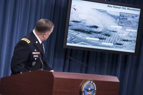 Rapporto del Pentagono su raid in Siria contro l'Is (BRENDAN SMIALOWSKI/AFP/Getty Images)