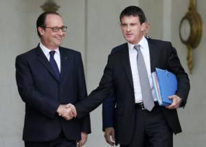 Presidente francese François Hollande e il premier Manuel Valls (Getty images)
