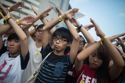 Contestazioni ad Hong Kong per il 65 esimo anniversario della Cina (Anthony Kwan/Getty Images)