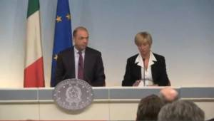 Alfano e Pinotti presentano Frontex (screenshot Youtube)