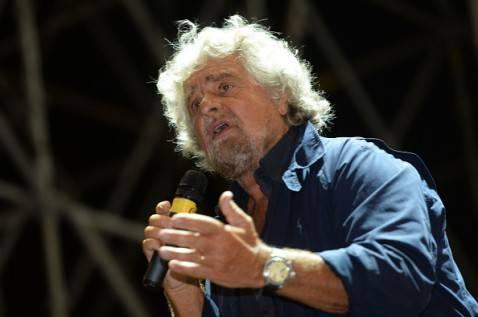 Beppe Grillo al Circo Massimo, Roma (FILIPPO MONTEFORTE/AFP/Getty Images)