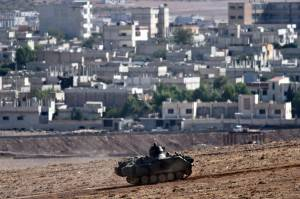 Forze curde a Kobane (Getty images)