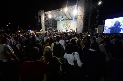 M5S al Circo Massimo ieri (FILIPPO MONTEFORTE/AFP/Getty Images)