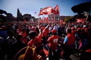 Piazza San Giovanni, 25 ottobre 2014 (FILIPPO MONTEFORTE/AFP/Getty Images)