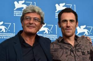 Mario Martone ed Elio Germano (GABRIEL BOUYS/AFP/Getty Images)