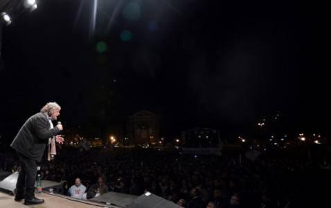 Piazza San Giovanni, chiusura campagna elettorale 5 Stelle (FILIPPO MONTEFORTE/AFP/Getty Images)