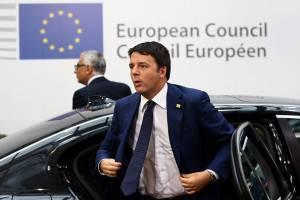 Premier Matteo Renzi al Consiglio Ue, Bruxelles (Getty images)