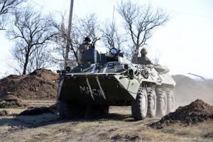 Soldati dell'esercito ucraino nella provincia di Donetsk (Getty images)