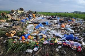 Luogo dello schianto dell'aereo malese in Ucraina (Getty images)