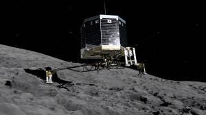 Simulazione Lander Philae su Rosetta (ESA via Getty Images)