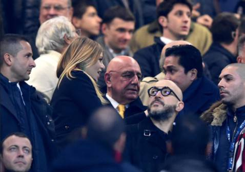 Barbara Berlusconi, Adriano Galliani e Erick Thohir (Getty Images)