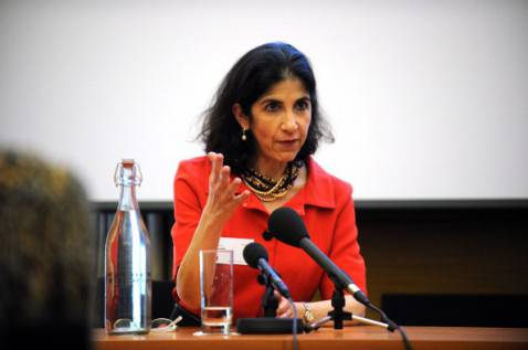 Fabiola Gianotti (LEON NEAL/AFP/Getty Images)