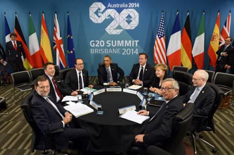 I leader di Europa e Usa al G20 di Brisbane (ALAIN JOCARD/AFP/Getty Images)