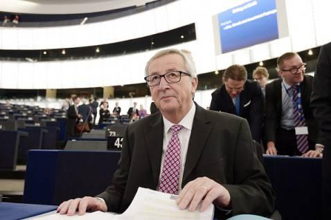 Jean-Claude Juncker al Parlamento di Strasburgo (FREDERICK FLORIN/AFP/Getty Images)
