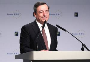 Mario Draghi, Francoforte (DANIEL ROLAND/AFP/Getty Images)