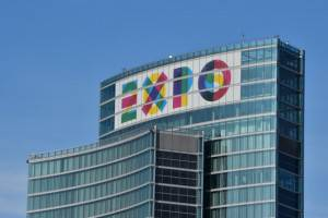 Il logo di Expo2015 (Giuseppe Cacace -Getty images)